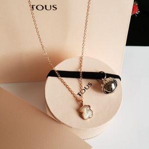 "TOUS Mini Ivory Quartz Bear Necklace, 18"""